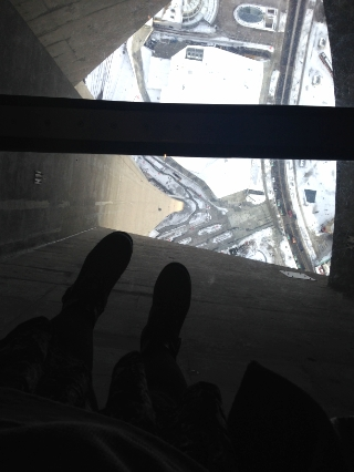 Glass Floor at CN Tower, Toronto Canada