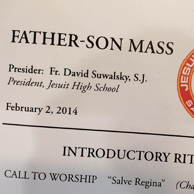 pre-Super Bowl Father-Son Mass