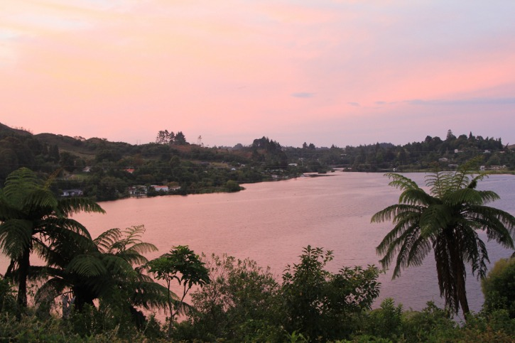 Sunset at Okere Falls