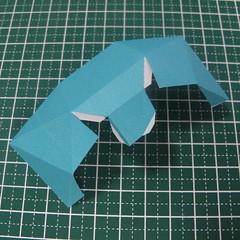 วิธีทำของเล่นโมเดลกระดาษรูปนก (Bird Paper craft ) 012