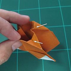 การพับกระดาษเป็นที่คั่นหนังสือหมีแว่น (Spectacled Bear Origami)  โดย Diego Quevedo 028