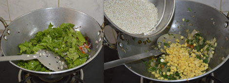 Barley spinach khichdi recipe