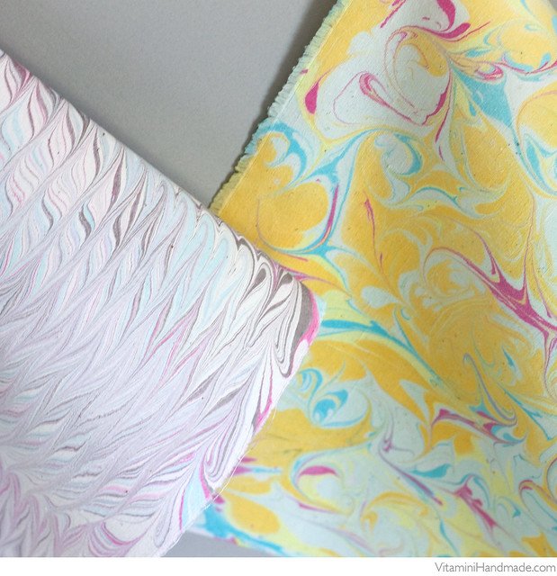 Marbled Paper and Fabric