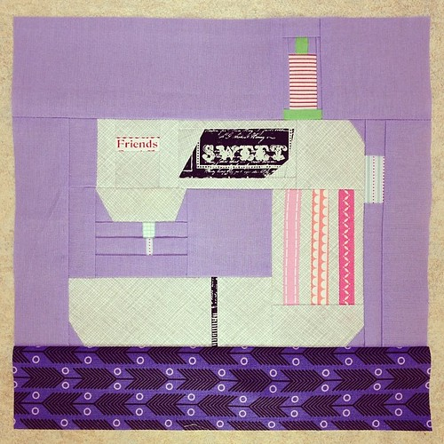 Sewing machine for Erin @whynotsewquilts #cocoricobee April/May 2014