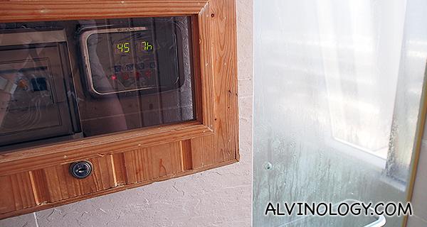 Temperature in the Steam room