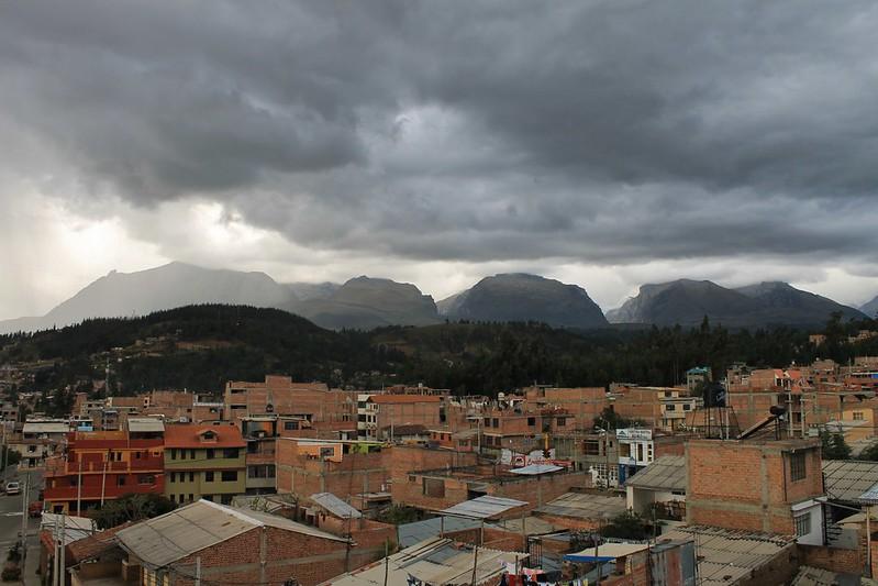 Threatening clouds over Huaraz's quebradas