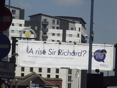 A rise Sir Richard? - Chiltern Railways billboard - Birmingham Moor Street Station