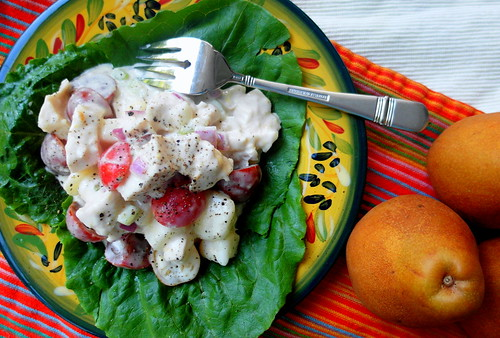 Chicken Salad with Taylor's Gold Pears and Heirloom Cherry Tomatoes