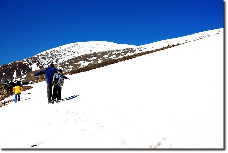 Tim and Matthew has been passing through the snowfield