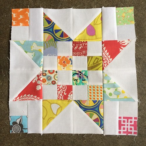 Second #dogoodstitches Scrap Jar block for Lindsay #dogoodstitches