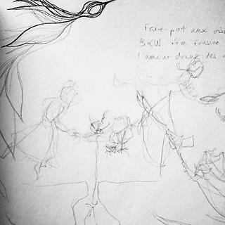 Petits #croquis préparatoires pour une nouvelle #illustration #doodle #dessin