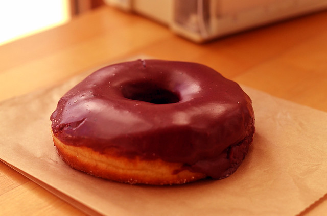 Blueberry bourbon basil donut