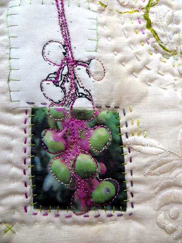 Poke Weed Heritage ~ an art quilt