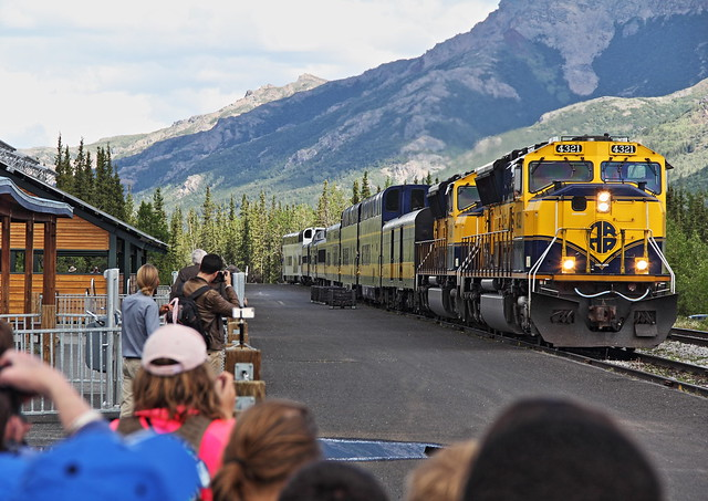 Train to Anchorage arriving 20140623