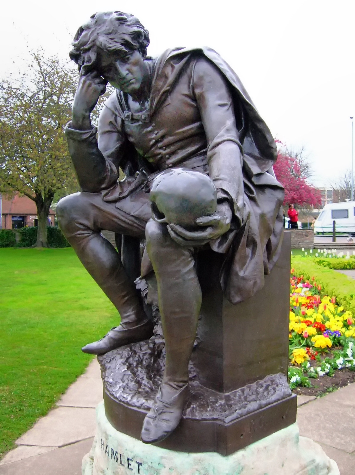 Stataue of Shakespeare's Hamlet, Stratford-upon-Avon, by Lord Ronald Gower