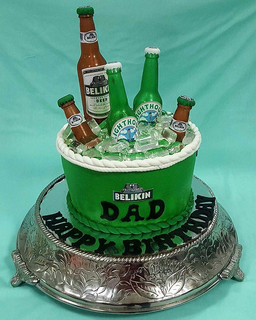 Isomalt Beer Bottle Cake by Cakes By Karla & The Party Center