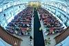 Foto suasana hadirin tamu undangan di resepsi pernikahan kk @dwitapermatasari & @satzadz di Wongso Menggolo Klaten Jawa Tengah.  wedding photo by @ditoswastika (@poetrafoto wedding photographer team).  visit http://wedding.poetrafoto.com & follow IG: @poe