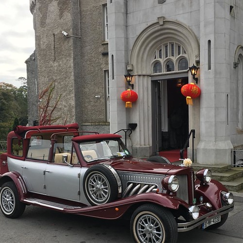 Wine & Silver Beauford Car @bellinghamcastle #weddingcars #weddingcarhirelouth