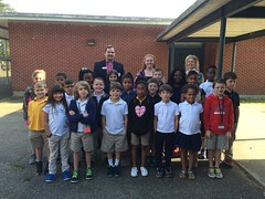 Brian Hughes & Stacey Baldree-PriorityOne Bank-Northside Elementary in Pearl - Mrs. Williams 3rd grade math class - 2