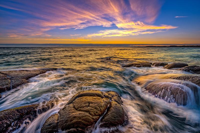 West coast twilight
