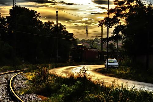 sunset kraljevo train fiat