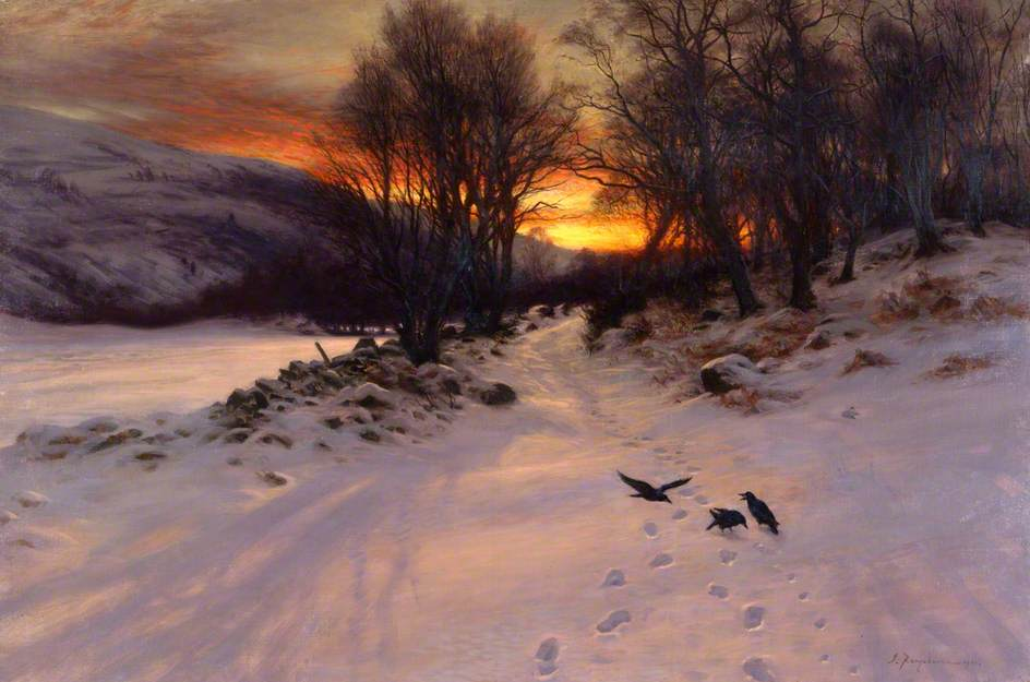 When the West with Evening Glows by Joseph Farquharson, 1901