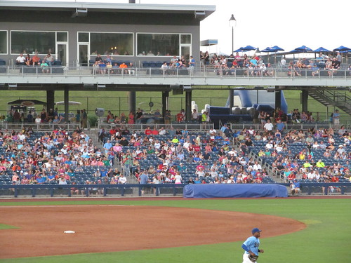 Empty seats in the stands at ONEOK Field
