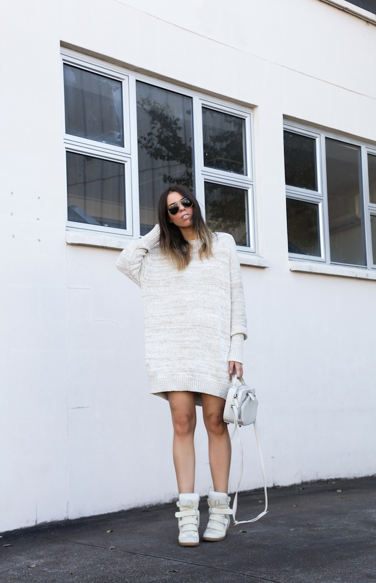 Acne Studios Shore knit dress Isabel Marant beige Bekket sneakers Alexander Wang Rafael Modern Legacy fashion blog Australia (1 of 1)