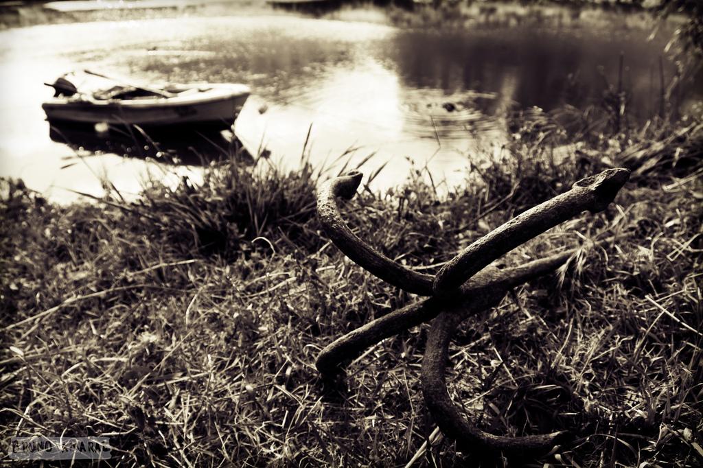Barca en el río Guadiana. Autor, Bruno Amaral