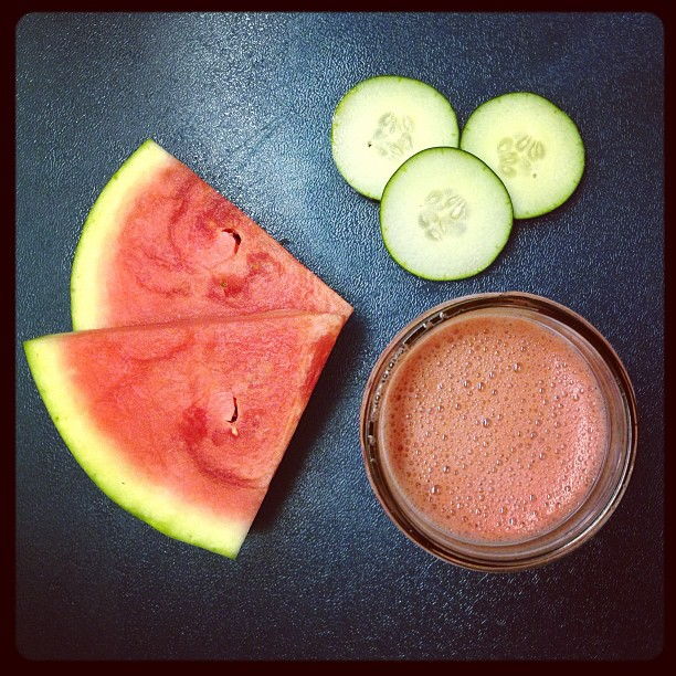 Juice of the moment: watermelon + cucumber #juice #juicing #fruit #recipe #health #watermelon #cucumber