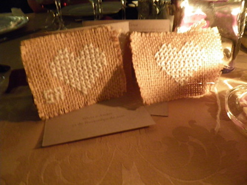 Wedding favors - cross stitch hearts