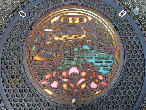 Hagi Yamaguchi , manhole cover 2 (山口県萩市越ヶ浜のマンホール)