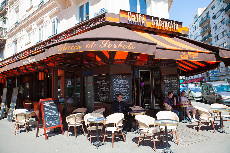 Cafe Rue La Fayette Paris