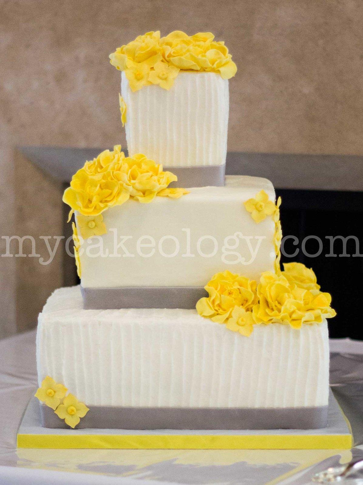 Yellow and Grey Wedding Cake | Flickr - Photo Sharing!