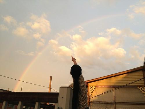 Look: a rainbow!