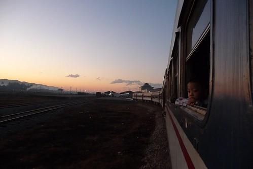 railroad train sunrise geotagged dawn burma rail railway railwaystation trainstation myanmar burmese mawlamyaing mawlamyine geo:country=myanmar geo:country=burma