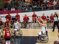 wheelchair sports(1.0), disabled sports(1.0), sports(1.0), basketball moves(1.0), team sport(1.0), wheelchair basketball(1.0), basketball player(1.0), ball game(1.0), basketball(1.0), team(1.0),