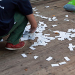 Sorting ticket stubs |