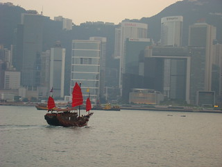 75 Chinese jonk in Victoria harbour