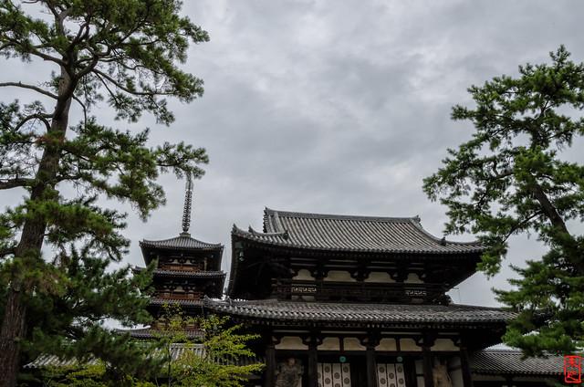 「中門と五重塔」 法隆寺 - 奈良