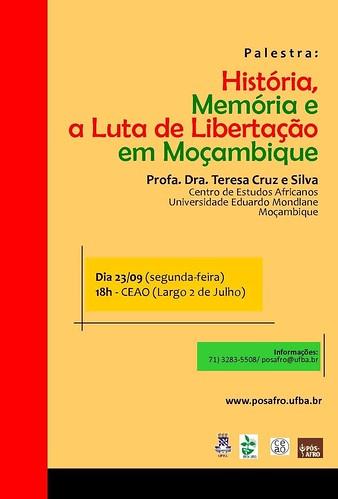 Palestra: História, Memória e a Luta de Libertação em Moçambique by Biblioteca Abdias Nascimento
