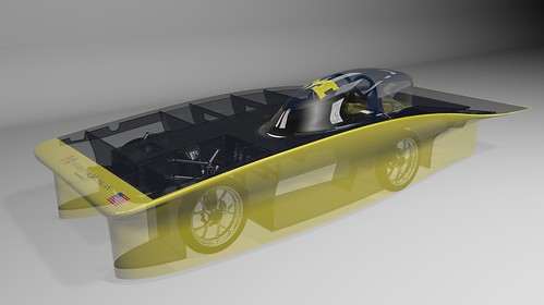 University of Michigan used NX software to design this solar car