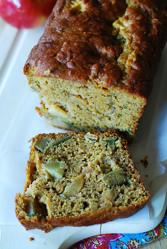 Pumpkin banana bread with apples, breakfast banana bread, dessert banana bread