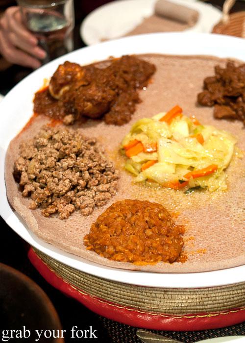 Ethiopian curries injera bread Jambo Jambo Ethiopian African Restaurant Crows Nest