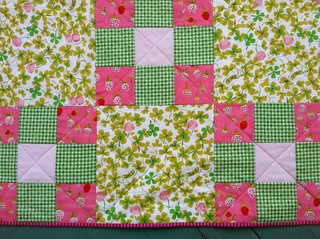 Nap time in flower garden/baby quilt