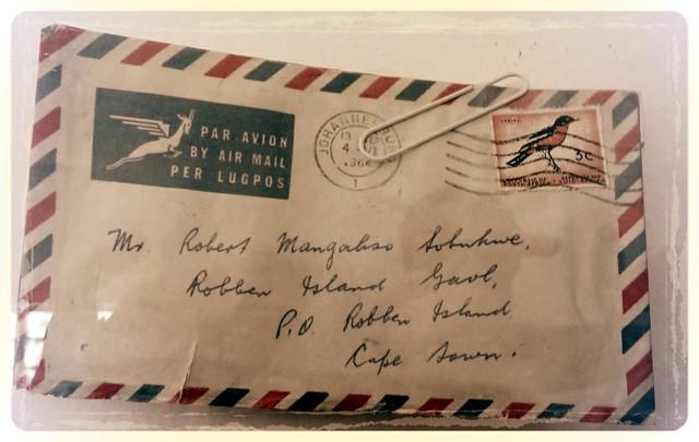 Sobukwe letter, Robben Island