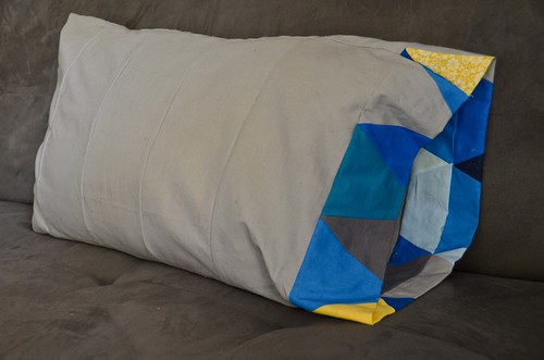DIY'ed Pillowcase with contrast fabric