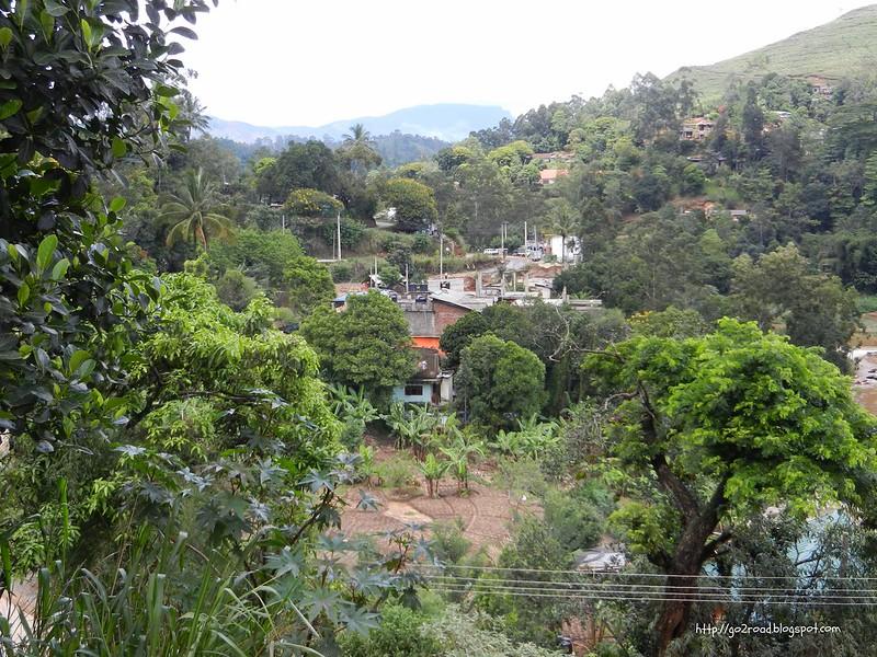 Самый типичный вид селений в горах Шри Ланки