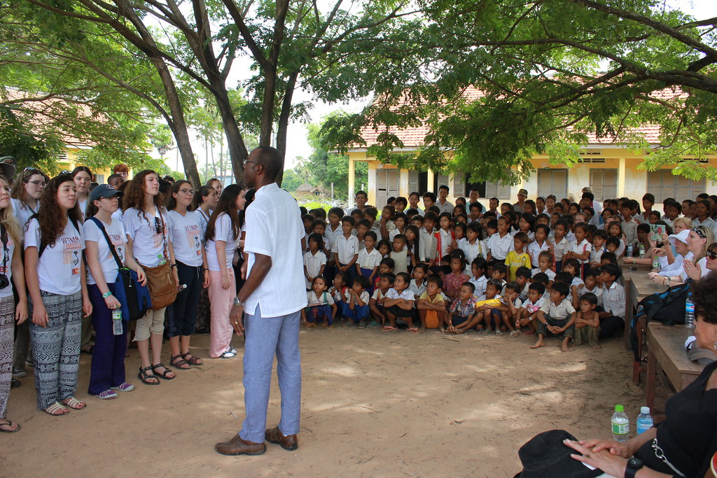 Boston Children's Chorus at Cambridge School in Cambodia
