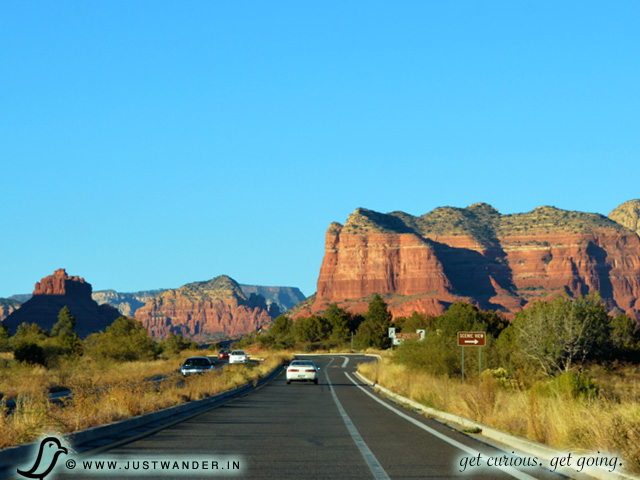 PIC: Scenic drive on Hwy 179 towards Red Rocks State Park, Sedona, Arizona